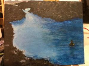 painting of ocean