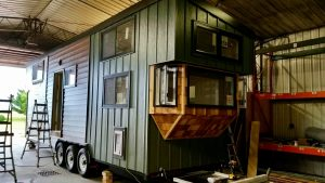 two girls in a tiny house