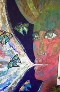 women's retreat mural