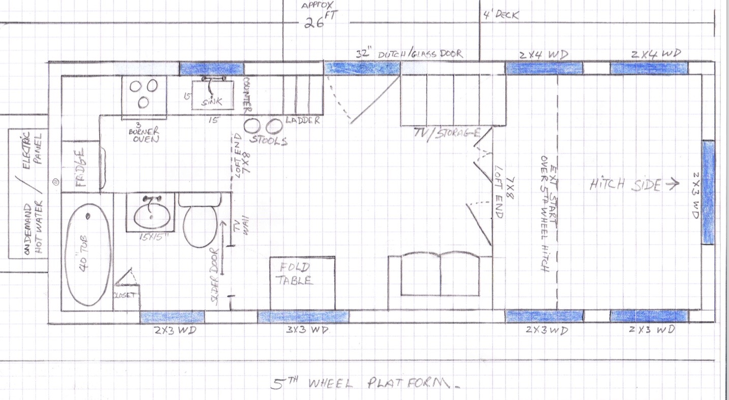 a drawing of a floorplan